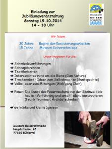 Plakat Jubiläum 2014