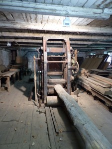 Das Sägegatter im stillgelegten Sägewerk von Elmstein