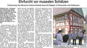 Badisches Tagblatt vom 05.10.2016, zum vergrößern bitte Artikel anklicken